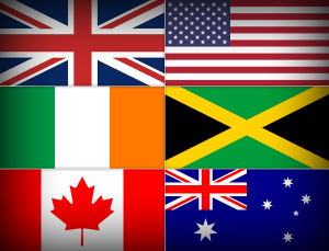 Flags of some Enlglish-speaking countries